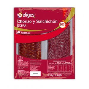 Salchichón+chorizo ifa eliges lonchas pack de 2 unidades de 100g
