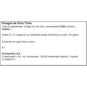 Vinagre de vino tinto ifa eliges  1l