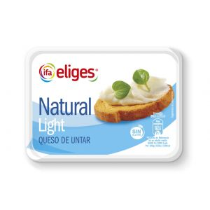 Queso untar natural light ifa eliges 250g