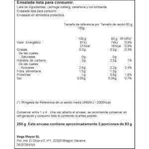 Ensalada 4 estaciones ifa eliges 250g
