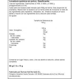 Levadura quimica polvo ifa eliges 90gr
