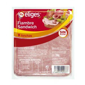 Fiambre sandwich 11x11 ifa eliges lonchas 200gr