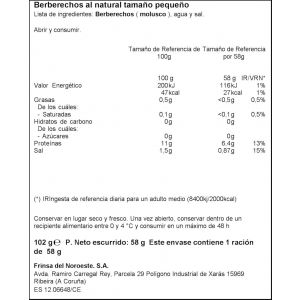 Berberecho  natural ifa eliges 45/55 111g ne