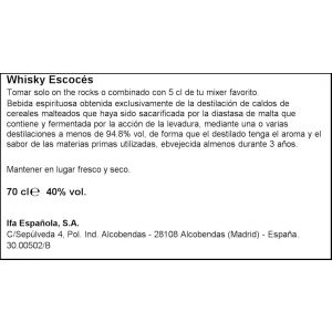 Whisky escoces  brown deer botella de 70cl