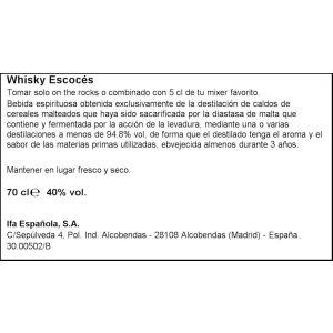 Whisky escoces  brown deer botella de 70cl