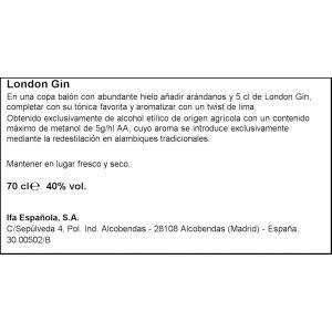 Ginebra  london black elephant botella de 70cl