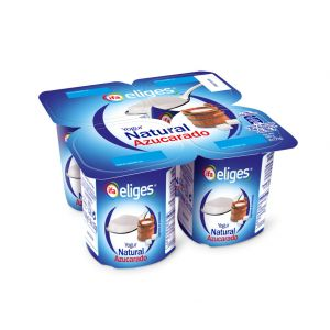 Yogur natural azucarado ifa eliges p-4x 125g