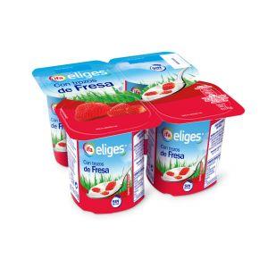 Yogur con trozos fresa ifa eliges p-4x 125gr