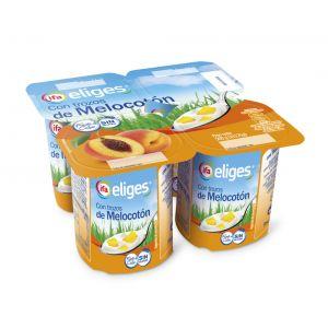Yogur con trozos melocoton ifa eliges p-4x 125g