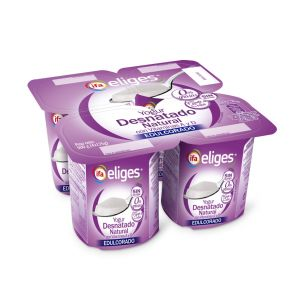 Yogur desnatado natural edulcorado ifa eliges p-4x 125gr