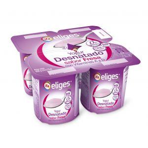 Yogur desnatado fresa ifa eliges p-4x 125gr