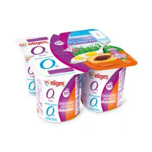 Yogur desnatado con melocoton ifa eliges p-4x 125g