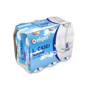 Yogur liquido l.casei desnatado natural ifa eliges p-6x100ml