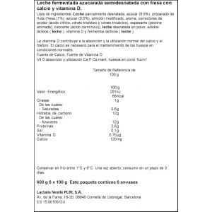 Petit liquido fresa ifa eliges p6x100g