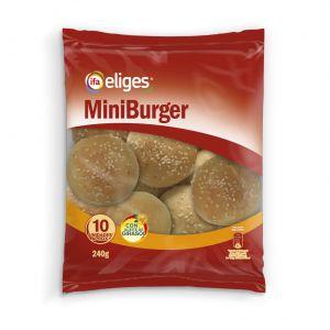 Pan mini hamburguesa  ifa eliges  p10x24g