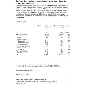Barrita cereales choco c/leche ifa eliges 6ud