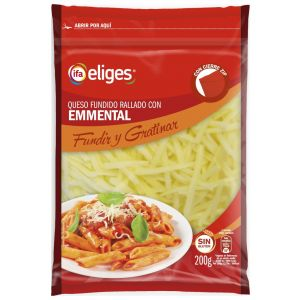 Queso rallado emmental ifa eliges 200g