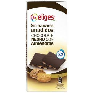 chocolate negro con almendra sin azúcar ifa eliges 150g