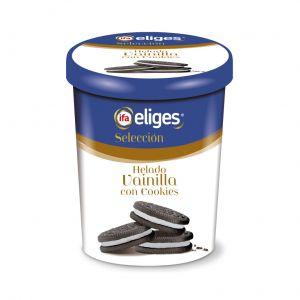 Helado tarrina vainilla con cookie ifa eliges 500ml