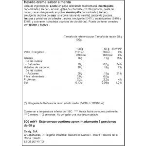Helado tarrina menta/chocolate ifa eliges  500ml