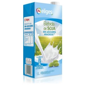 Bebida sin azucar soja ifa eliges brick 1l