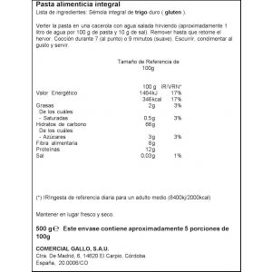 Pasta macarron integral ifa eliges 500g
