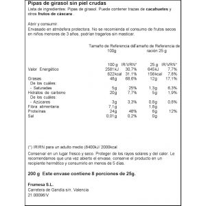 Pipas de girasol natural ifa eliges 150g