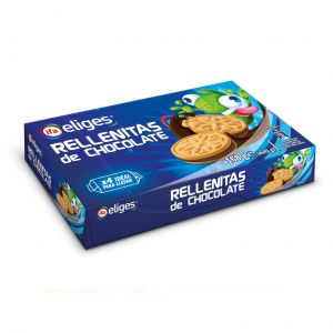 Galleta mini rellena chocolate ifa eliges 4x42gr