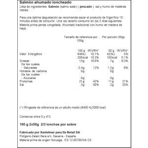 Salmon ahumado ifa eliges lonchas 2x50gr