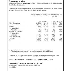 Anacardos crudos ifa eliges bolsa 150gr