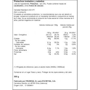 Pistacho usa tostado ifa eliges bols 300gr