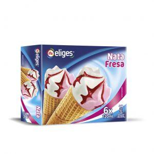 Helado cono nata fresa ifa eliges p6x120ml