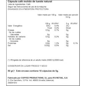 Cafe capsulas colombia ifa eliges 10 cap