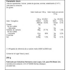 Caramelos con azucar  eucalipto ifa eliges  250g