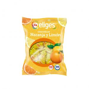 Caramelos sin azucar  naranj-limon ifa eliges  70g