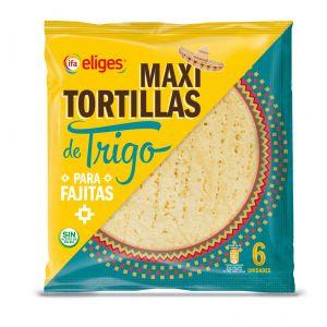 Maxi tortilla de trigo ifa eliges 6ud 370gr