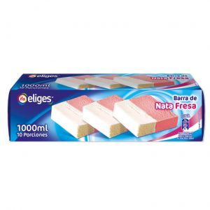 Helado bloque de nata y fresa ifa eliges 1l