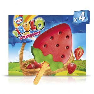 Helado strawberry pirulo pack-4x 73ml