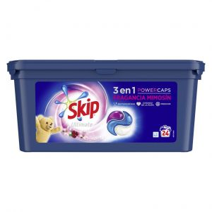 Detergente caps ultimate fragancia mimosin skip 24ds