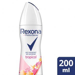 Desodorante spray tropical rexona 200 ml