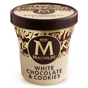 Helado white chocolate y cookies magnum pint 440ml