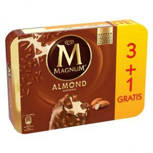 Helado magnum de almendras frigo p3+1x110ml