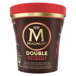 Helado chocolate y fresa magnum pint 440ml