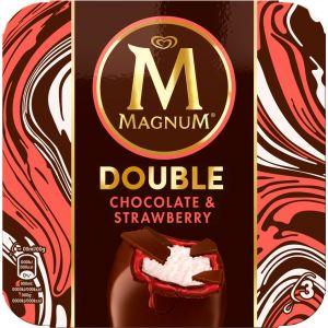 Helado doble fresa-chocolate magnum p-3 264ml