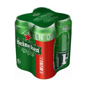 Cerveza heineken lata p-4 25cl