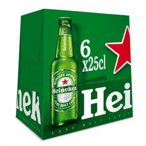 Cerveza heineken p6x25cl