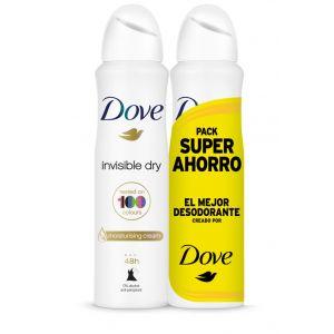 Desodorante spray mujer invisible dove p2x 200ml