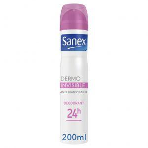 Desodorante spray dermo invisible sanex 200 ml