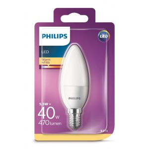 Bombilla led vela calido philips e14 40w