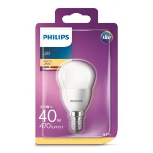 Bombilla led esfera calido philips e14 40w
